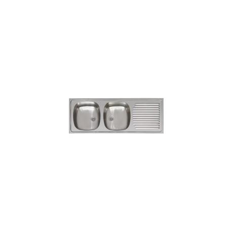 evier inox 2 bacs encastrable 120x51 lamaisondupoeleabois 0558750435. Black Bedroom Furniture Sets. Home Design Ideas