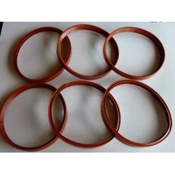 Lot de 6 joints silicone pour tuyaux de poele à granulés