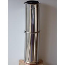 tuyau téléscopique inox isolé double paroi diamètre 120