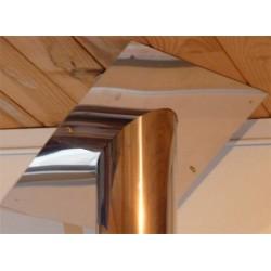 Plaque de finition de plafond en pente pour double paroi 80
