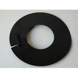 Rosace noire pour tuyau à pellets double paroi diam.80